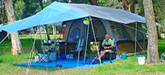 Campsites for tents